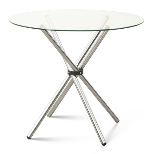 Round Glass Folding Dining Table