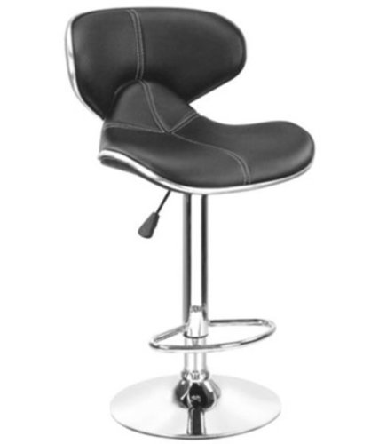 Black Deluxe Bar Stool Cafeteria Chair