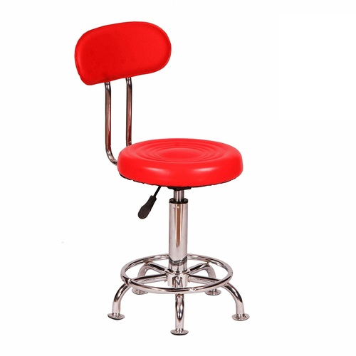 Stylish Leather Metal Bar Stool Chair