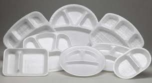 Thermocol Disposable White Plate