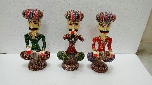 Handmade Wooden Musician Set For Home Decor