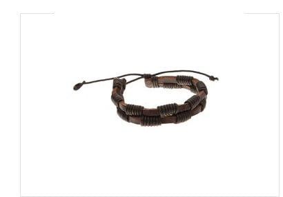 Handmade Leather Bracelet With Twin Brown Strap
