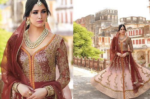 Floral Shimmer Anarkali Suit