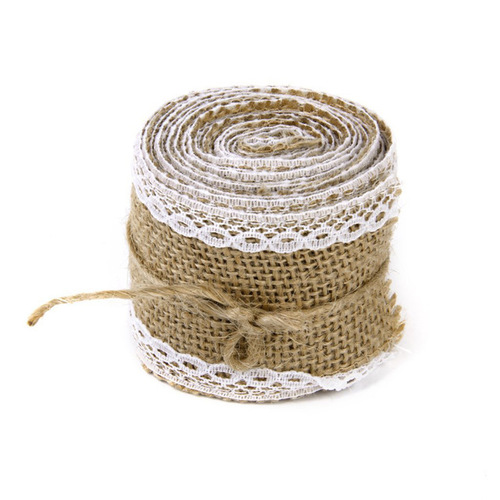 Jute Lace with White Border