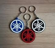 Two Wheel Logo Key Chain