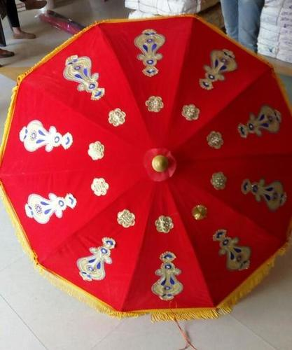 Wedding Velvet Umbrella - Red