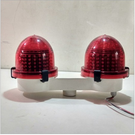 LED Aviation Light Double Dome Material: LM6 Alluminium Die Cast