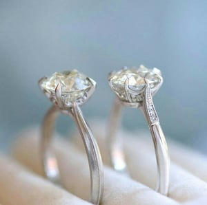 Natural Diamond Solitaire Rings