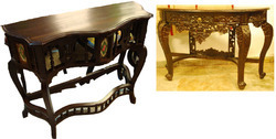 Wooden Colonial Console Table