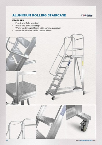 Aluminium Rolling Staircase Ladder In Jabel Ali Industrial Area 3