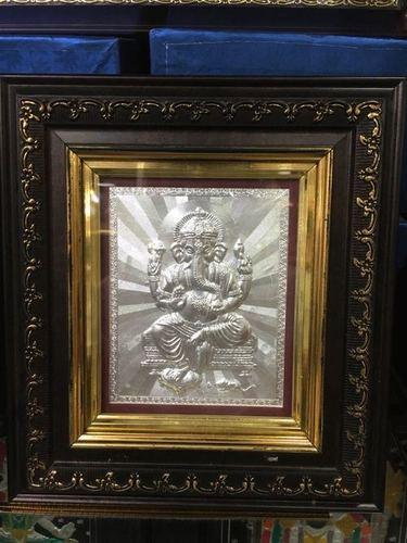 Lord Ganesha Silver Frame