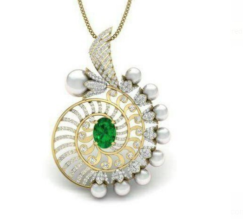 Designer American Diamond Pendant