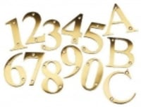 Brass Numerals And Alphabets