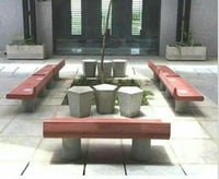Designer Look Concrete Benches