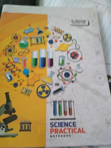 A4 Size Science Practical Notebook