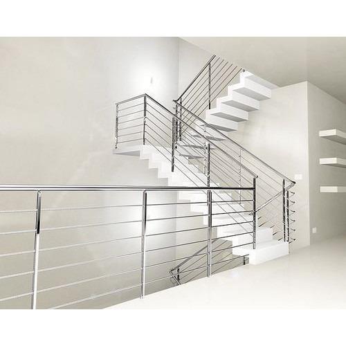 Designer Stainless Steel Staircase Railing Metones Buiidcon Pvt