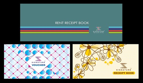 White Paper Rent Receipt Book