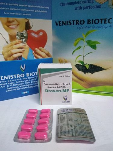 Drotaverine 80 Mg & Mefnamic Acid 250 Mg Tablet