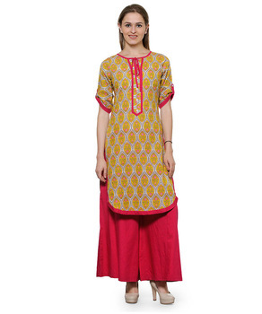 Any Ladies Printed Pathani Kurta