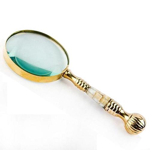 Round Shape Brass Magnify Glass