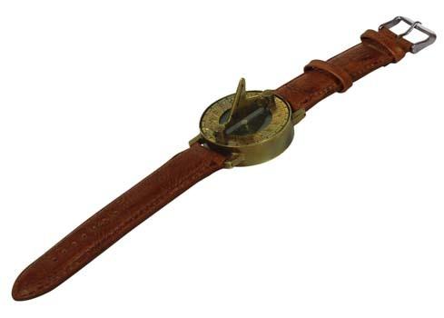 Sundial Compass Wrist Watch
