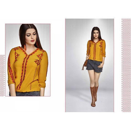 Fashionable Embroidered Ladies Top