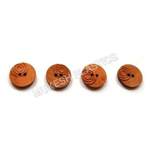 Facny Natural Color Wooden Buttons  in   Naghedi