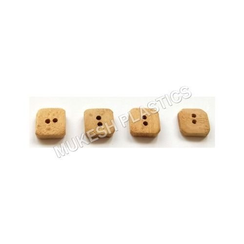 2 Hole Square Wooden Button in   At Naghedi