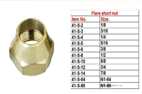 American Brass Flare Nut Fittings