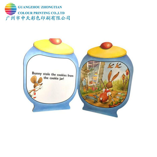 Zhongtian Colouring Printing Specail Shape Kids Story Book