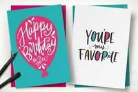 Customized Printed Greeting Cards