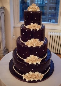 Rich Chocolate Wedding Cake