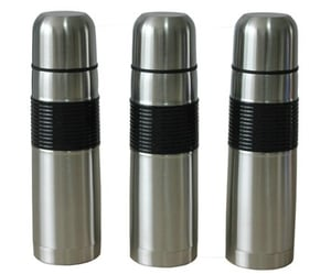 Double Wall Gold/Black/White Color Stainless Steel Vacuum Thermos Flask Mug