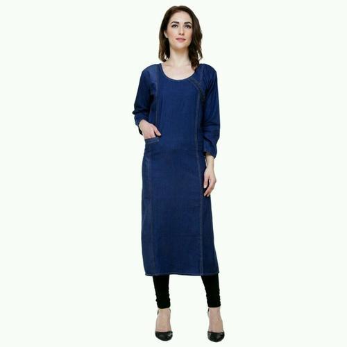 77ed8c7073a Ladies Denim Designer Kurti