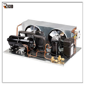 R404A SANYO Refrigerated Compressor 1~3HP Horizontal Condensing Unit for  Refrigeration and Cabinet Deep Freezing