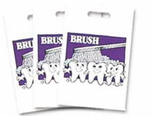 Dental Gift Plastic Tooth Bags