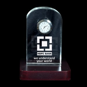 3D Crystal Clock Corporate Gifts
