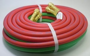 Red and Green Welding Hoses