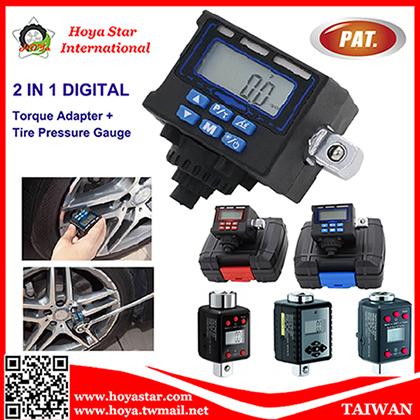 2 IN 1 Digital Torque Adapter with Tire Pressure Gauge
