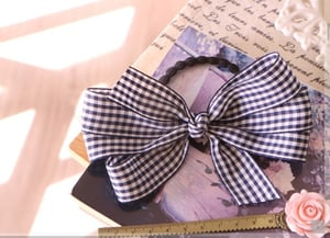 Blue And White Ribbon Bow Ties