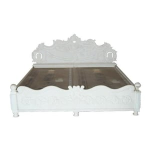 White Marble Stone Bed