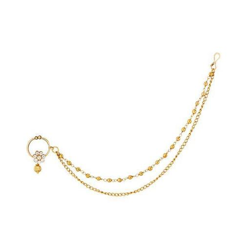 Double Layer Gold Plated Pearl Nose Ring