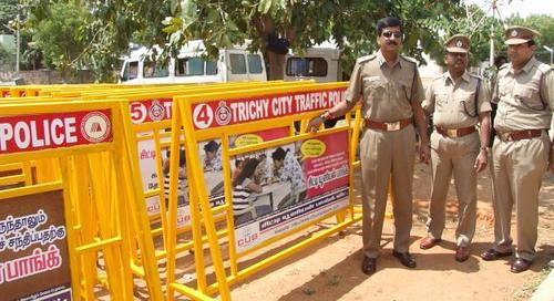 Police Traffic Barricade Advertisement Service