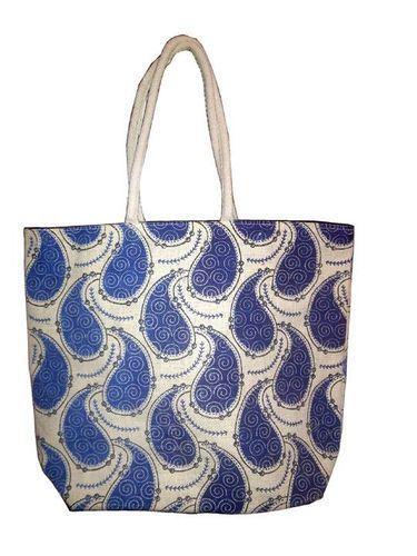 Printed Jute Handbag