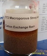 D72 Macroporous Strong Acid Cation Exchange Resin
