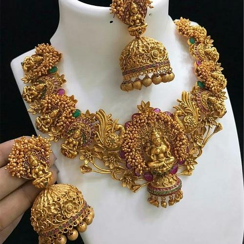 Antique Temple Design Necklace Set