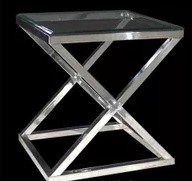 Zig Zag Steel Side Table
