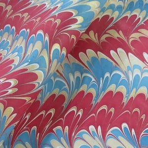 Abstract Color Handmade Marbled Paper
