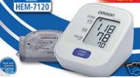 White Omron Blood Pressure Monitor (7120)