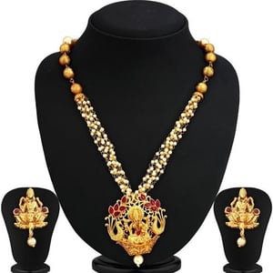 Blossomy Gold Plated Necklace Set For Women - NE-MA-5